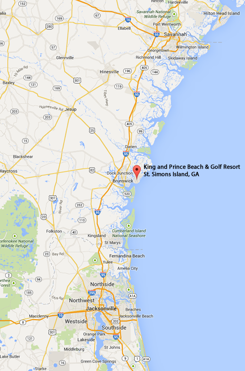 Map Of Georgia Golden Isles.Fib 2014 Getting There